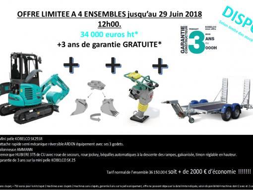 Promotion Juin 2018 – Minipelle Kobelco SK25SR-6